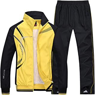 e3960cc353 Modern Fantasy Men s Athletic Striped Tracksuit Joggers Running Sports  Style Sweat Suits Set