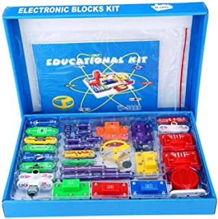 Flameer Electronic Circuits DIY Blocks Kids Physics Educational Discovery Kit W-5889