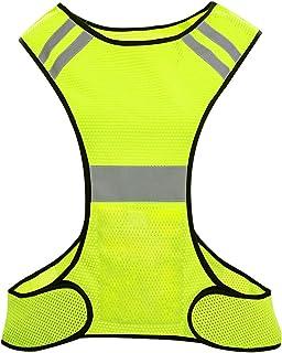 Biqing Hi Vis kamizelka odblaskowa wysoka widoczność kamizelka Hi Viz kurtki bezpieczeństwa do biegania chodzenia jazdy na...