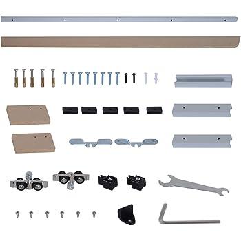 Henderson. Sistema de Puerta Corredera Fabricado en Aluminio para Puertas de Madera de Hasta 50kg de Peso. Fácil instalación (1500mm): Amazon.es: Bricolaje y herramientas