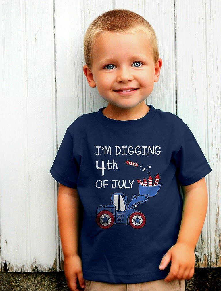 I'm Digging 4th of July Tractor Loving Boys Toddler Infant Kids T-Shirt