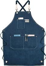 Heren Tool Schort met Multi Pockets, Waxed Canvas Carpenter Apron, Heavy Duty Workshop Schort voor timmerman, chef-koks, k...