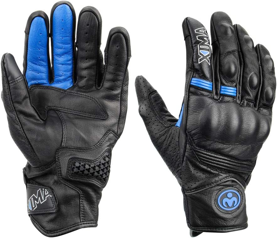 Hardknuckle Touchscreen Motorradhandschuhe f/ür Fahrr/äder, Ziegenleder Motorradhandschuhe f/ür M/änner LEXIN Motorradhandschuhe