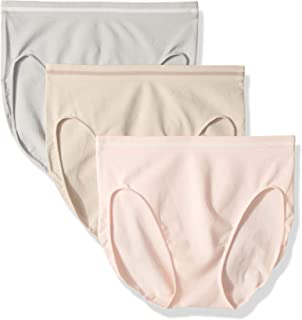 Ellen Tracy Women's 3 Pack Seamless Tipping Hi Cut Panty