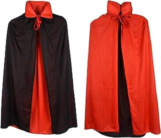 "فستان Gardeningwill خاص بفستان Goth Devil Pirate Demon لحفلات الهالوين والكريسماس للأطفال, 35"" Cloak"