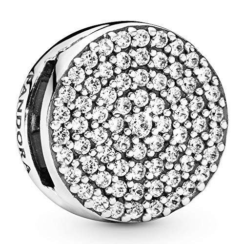 PANDORA Reflexions silver clip charm with clear cubic zirconia