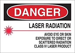 Brady 25260 Plastic Radiation & Laser Sign, 7