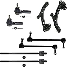 Detroit Axle - New Complete 8pc Front Suspension Kit Ford Mustang - 10-Year Warranty- Both (2) Front Lower Control Arm & Ball Joint, All (4) Inner & Outer Tie Rods, Both (2) Front Sway Bar End Links