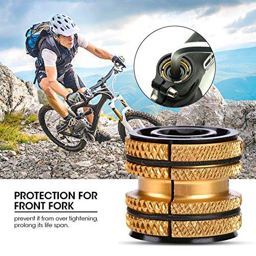 Tbest Bike Headset Plug 28.6,Aluminium Bike Fiets Headset Expander Compressor Plug Uitbreiding Plug voor 28.6mm Carbon Vork Onderdelen