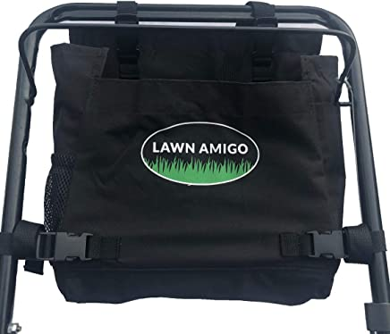 Lawn Amigo. Push Mower Garden Organizer. Bag Clips to Walk-Behind Mower Handle