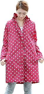PENGFEI レインコートポンチョ防水 ジャケット ウインドブレーカー トレッキング 通気性のある 日焼け止め 女性、 2色展開 2サイズ (色 : RED, サイズ さいず : L l)