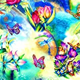 Diy 5D Pintura Diamante Set Mariposa Para Home Salón Wall Décor Manualidades Kit Por Numeros Pintura Lienzo Para Adultos Completo Crystal Rhinestone Punto Cruz Bordado Arte Obsequio L2166 40X40Cm