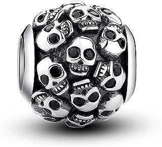 Glamulet Art - All Skulls Nightfall Strikes Charm - 925 Sterling Silver