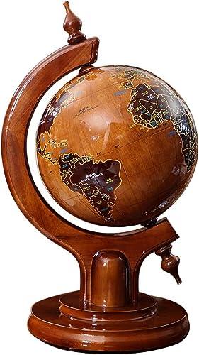 alta calidad JIAHE115 Jiale Globe Madera Maciza-HJCA Maciza-HJCA Maciza-HJCA Antiguo Oficina Estudio Decoración Decoración Personalidad Artesanía Regalo Globo 12.99 × 15.74 × 23.62 Pulgadas  exclusivo