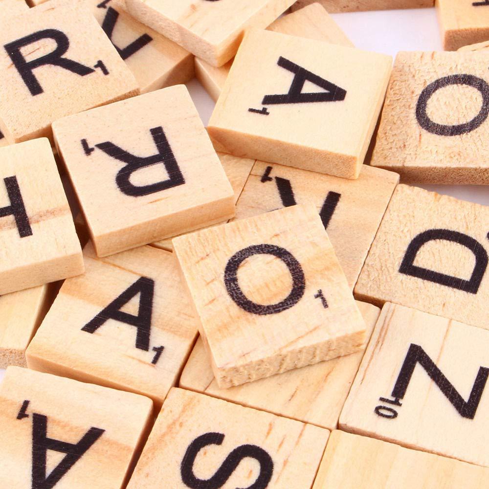 Letras Madera Azulejos Letras de Madera de Numeros Artesanía Alfabeto Rompecabezas Alfabetos Artesanía: Amazon.es: Electrónica