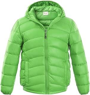 Boys & Girls Ultralight Hooded Duck Down Puffer Packable Jacket