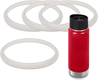 Impresa Products 4-Pack of Klean Kanteen (TM)-Compatible Café Cap and Wide Cap Gaskets/O-Rings/Seals BPA-/Phthalate-/Latex-Free - Maintenance Kit