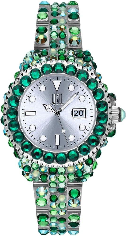 Light time mediterraneo, orologio per donna, in policarbonato con 300 cristalli preciosa L603M