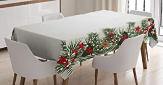 ABAKUHAUS Noël Nappe, Réveillon du Nouvel an Magique, Linge de Table Rectangulaire pour Salle à Manger Décor de Cuisine, 1...