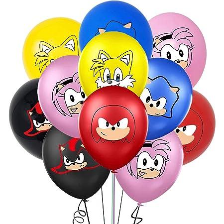 35 Piezas Sonic The Hedgehog Globos de látex ZSWQ-Decoración para Fiestas de Cumpleaños Sonic The Hedgehog Fiestas Decoración Sonic Globos para Niños Fiestas de Cumpleaños