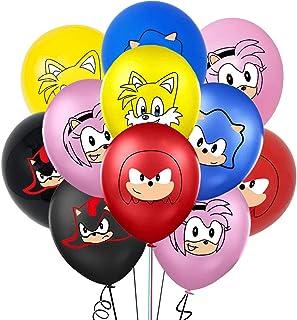 35 Piezas Sonic The Hedgehog Globos de látex ZSWQ-Decoración para Fiestas de Cumpleaños Sonic The Hedgehog Fiestas Decorac...
