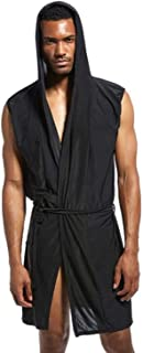 Men's Bath Robes Breathable Nightshirts Soft Sleepwear Shower Nightgown for Shower Sleep