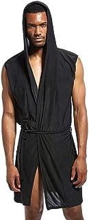 Men's Bath Robes Breathable Nightshirts Soft Sleepwear Shower Nightgown for Shower Sleep