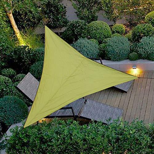 Sonnensegel / Sonnensegel, dreieckig, wasserdicht, UV-Schutz, für Terrasse, Garten, Pool, Teich (3 x 3 m, grün)