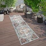 Paco Home In- & Outdoor Teppich Modern Orient Print Terrassen Teppich Türkis, Grösse:160x220 cm - 4