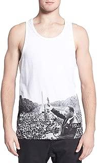 Eleven Paris Men's Martin Luther King Jr Huter Deb White Tank Top (Medium)