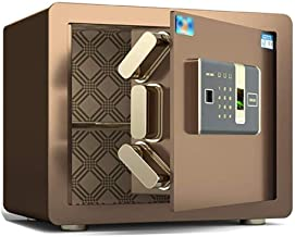 LLRYN Safes Safes, All Steel Anti-Theft Dual Smart File Alarm Safes Deposit Box Bedside Cash Box (Password/Fingerprint) Sa...