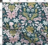 Marineblau, Rosa, Gold, Silhouette, Damast, Viktorianisch