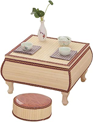 Small Coffee Table in The Living Room Small Table for Household use Computer Learning Mini Table Creative Desk Balcony Small Coffee Table (Contains Two Cotton Pads) (Color : Beige, Size : 43cm)