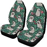 A Parsley Store Juego de 2 fundas de asiento de coche para perros con diseño floral fino, ajuste universal para vehículos, sedán y
