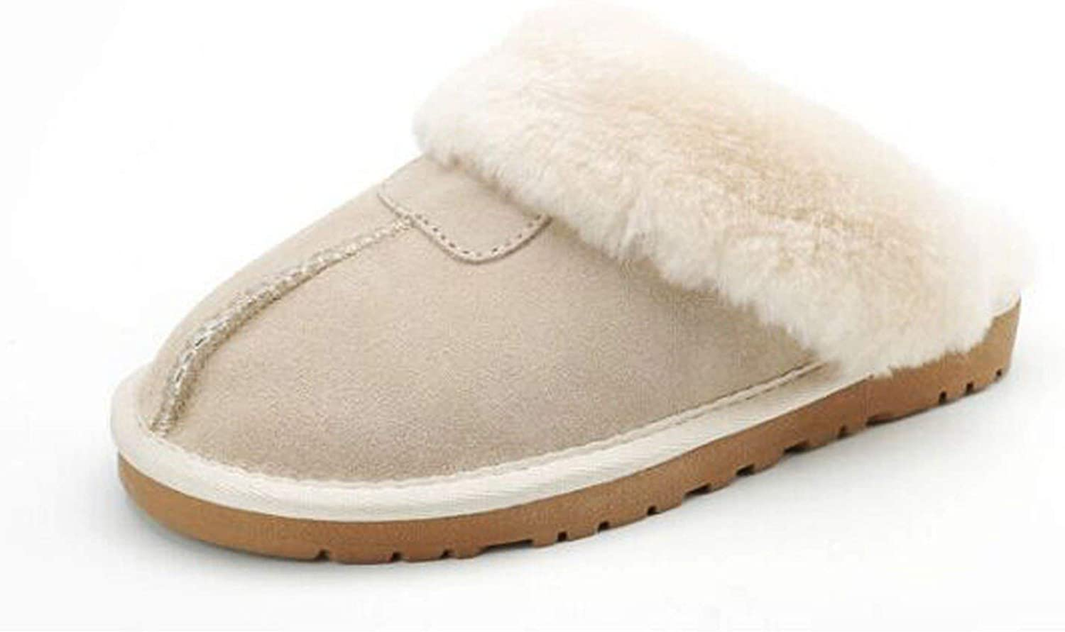 Smile-bi 9 color Sheepskin Genuine Wool Winter Slippers Women Plush Home shoes