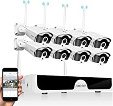 JOOAN 1296P Wireless Security Camera System,JOOAN 8x3MP Full HD Home Surveillance Outdoor WiFi CCTV Cameras with 8 Channel...