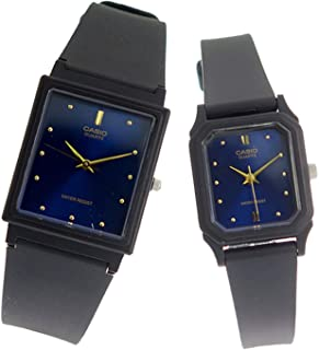 Casio His & Her Blue Dial Resin Band Couple Watch - Mq-38-2A/Lq-142E-2A, Analog Display, Quartz Movement