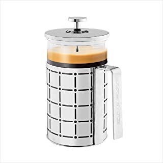 Ovente French Press 27 Ounce Coffee & Tea Maker, 4 Level Stainless Steel Filter System & Heat Resistant Borosilicate Glas...