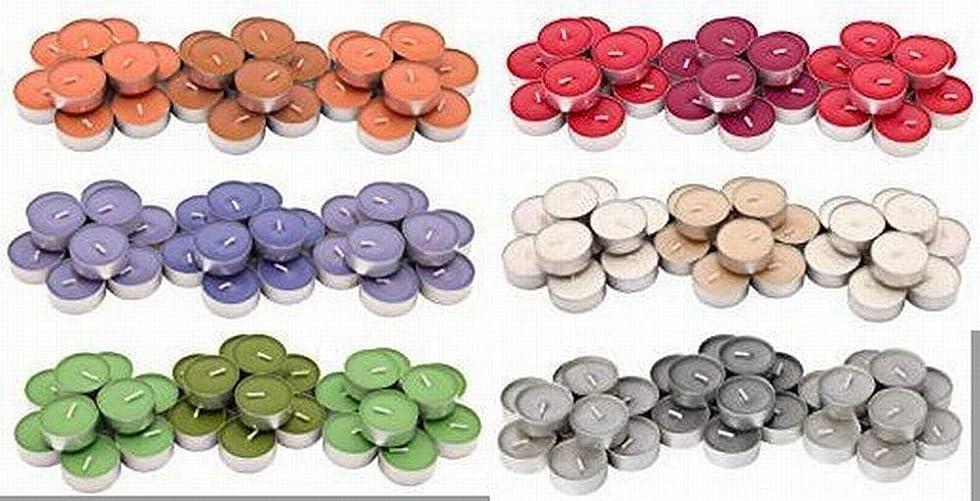 苦しみ正しく発信IKEA SINNLIG 香り付ティーライト 30ピース × 6種類(レッドガーデンベリー、ピーチ&オレンジ、スイートバニラ、リンゴ&洋ナシ、ブラックベリー、ナツメグ&バニラ)