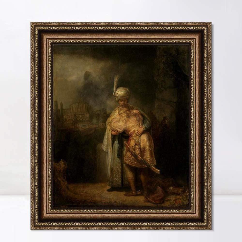 ブランド激安セール会場 INVIN ART Framed Canvas Art Giclee Scene Print 安い 激安 プチプラ 高品質 Rembr Biblical by