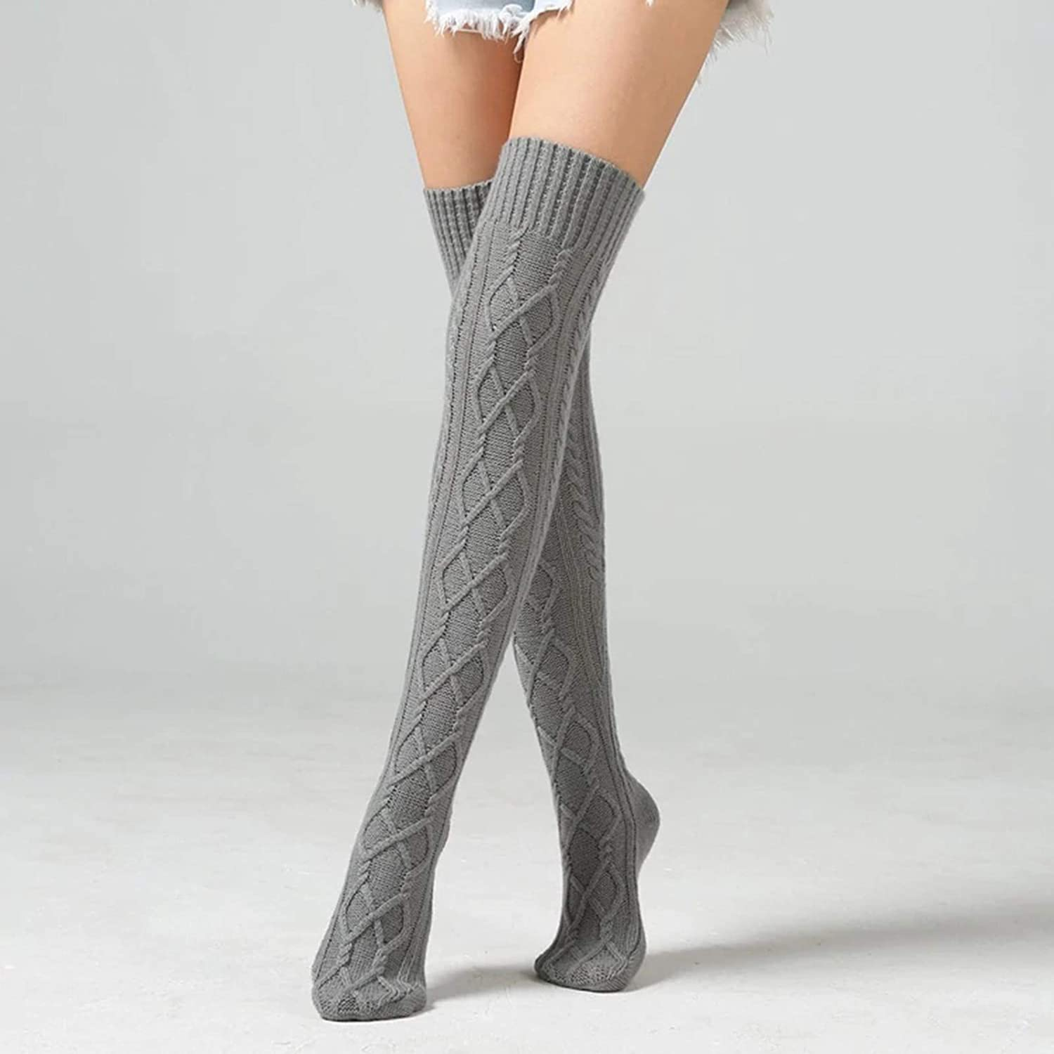 Women's Cable Knit Long Boot Stocking Socks Knee High Winter Leg WarmersThigh Stocking/ Casual/Ankle Socks