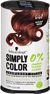 Schwarzkopf به سادگی رنگ موی دائمی رنگ ، 6.68 قهوه ای فندقی