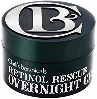 Clark's Botanicals Retinol Rescue Overnight Cream, Gentle, Exfoliating, Calming, Balancing, Brightening1.7 Ounce