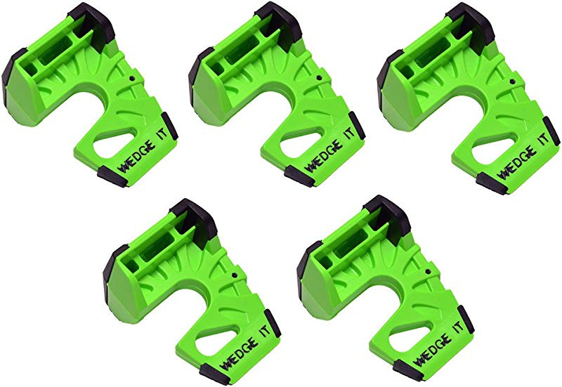 Wedge It The Ultimate Door Stop Lime Green 5 PACK