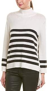 Womens Turtleneck Sweater, L, White