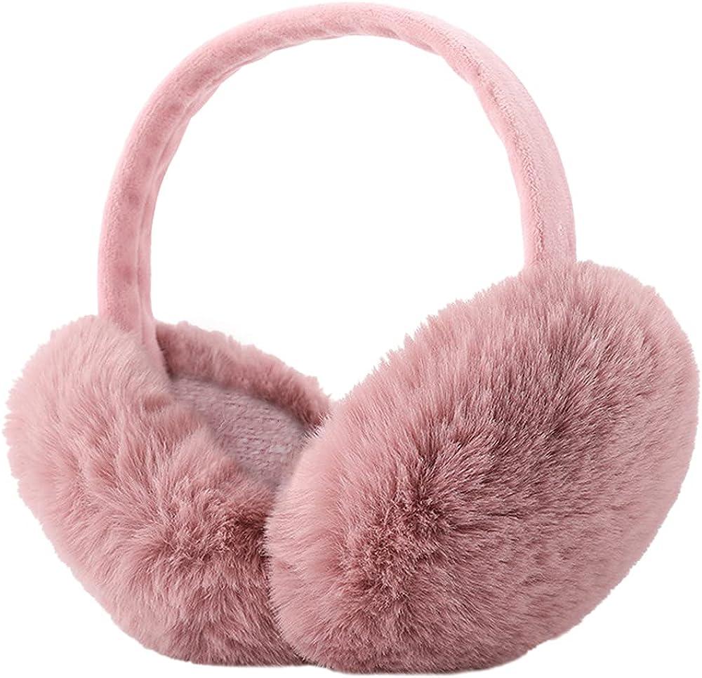 Belsen Womens Faux Furry Warm Soft Earmuffs Winter Outdoor Foldable Ear Warmers