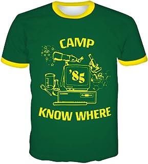 Camiseta Stranger Things Hombre, Camiseta Stranger Things 3 Niño Camiseta de Deporte con Paneles de Rejilla Impresión Ring...
