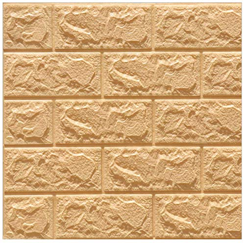 3D Modello Brick Adesivi Murali 10PCS,Rimovibile Fai da te Art Disegno Tridimensionale Wall Stickers,Decorazione da Muro per Camera da Letto Salone Ufficio della Parete TV