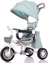 YANGSANJIN Cochecito de Bebe Paseo, Carritos y sillas de Paseo - sillas de Paseo Bebe Ligeras - Dosel extraíble Pedales Plegables de 3 Ruedas Techo Solar Visible asa de Carro
