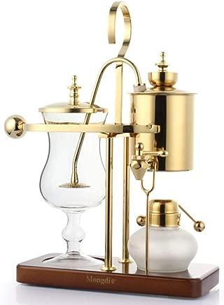 MINGTAI Coffee Machine Royal Belgian Coffee Pot Siphon Pot Coffee Pot Set Home Coffee Machine Manual Fashion Golden (Color : Gold)
